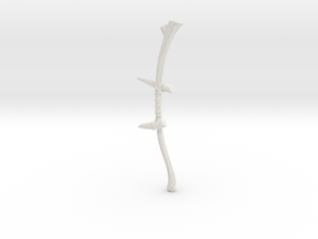 """BotW"" Spiked Boko Bow in White Natural Versatile Plastic: 1:12"
