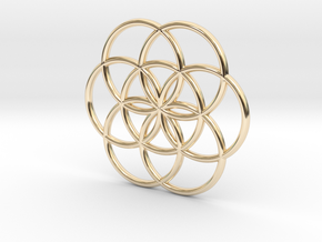 Flower of Life Seed Pendant Small in 14k Gold Plated