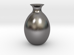 Vase 3d in Polished Nickel Steel