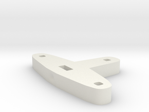 Tiller for Flap Rudder V03 1/100 in White Natural Versatile Plastic