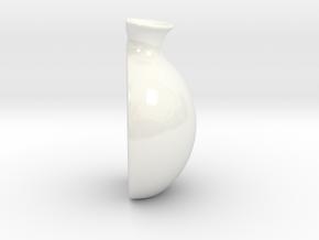 """Vase """"Treasure"""" in Gloss White Porcelain"""