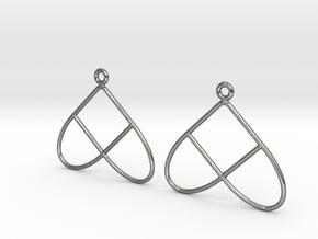 Celtic Weave Earrings - WE028 in Polished Silver