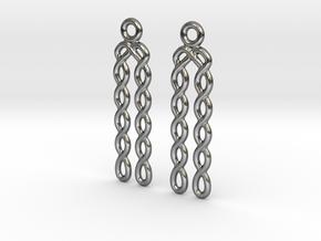 Celtic Weave Earrings - WE030 in Polished Silver