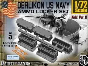 1/72 Oerlikon US Navy Ammo Locker SET in White Natural Versatile Plastic