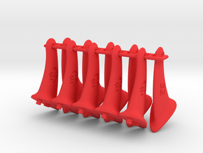 10 pcs. 32mm F2D control horn - 2nd gen in Red Processed Versatile Plastic