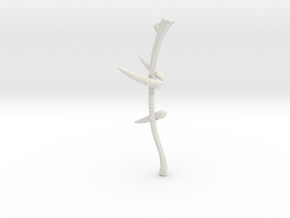 """BotW"" Dragonbone Boko Bow in White Strong & Flexible: 1:12"