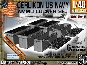 1-48 Oerlikon US Navy Ammo Locker Set in Smooth Fine Detail Plastic