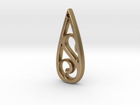Teardrop S Pendant in Polished Gold Steel