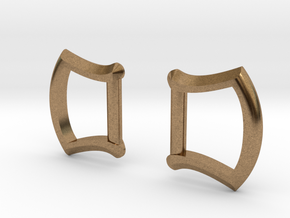 """1/2"""" Buckle Frames / D-rings (pair) in Natural Brass"""