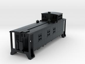 D&RGW Caboose 1400Series  in Black Hi-Def Acrylate