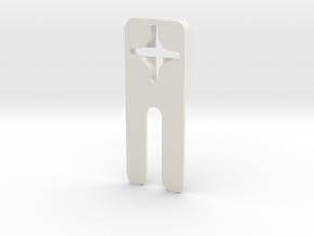 Dead Bolt Locker in White Natural Versatile Plastic