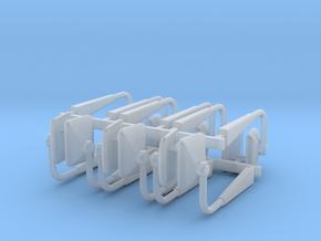 (6) MODERN MANUAL ADJUST MIRROR SETS in Smooth Fine Detail Plastic