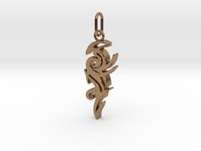 Tribal Pendant in Interlocking Raw Brass