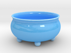 Salad dish in Gloss Blue Porcelain