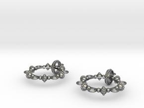 Melancholia Earrings in Polished Silver (Interlocking Parts)