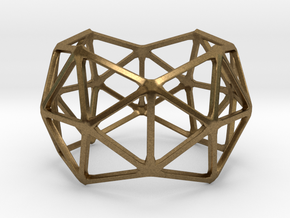 Catalan Bracelet - Pentakis Dodecahedron in Natural Bronze: Large
