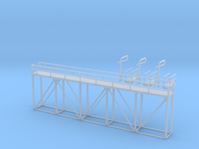 'N Scale' - Ethanol Walkway (Fill Station) in Smooth Fine Detail Plastic