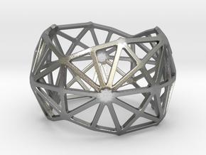 Catalan Bracelet - Disdyakis Triacontahedron in Natural Silver: Large