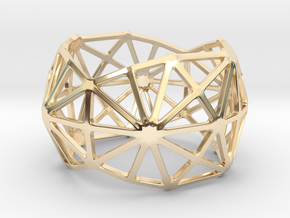 Catalan Bracelet - Disdyakis Triacontahedron in 14k Gold Plated Brass: Large