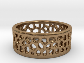 Cell Ring - Size 6 in Natural Brass