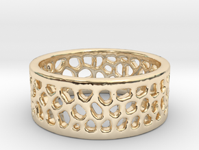 Cell Ring - Size 6 in 14K Yellow Gold