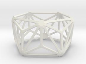 Catalan Bracelet - Triakis Icosahedron in White Natural Versatile Plastic: Large