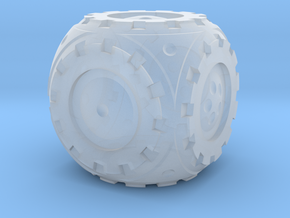 Gear Roller D6 in Smooth Fine Detail Plastic