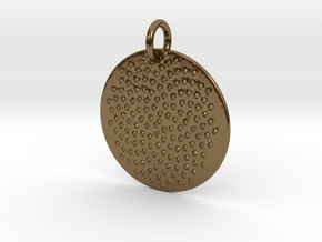 Seed Pattern Pendant in Polished Bronze