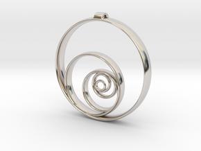 Aurea_Pendant in Rhodium Plated Brass