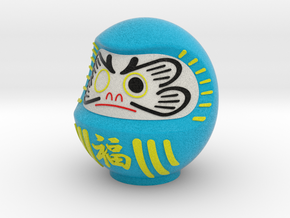DARUMA(Blue fuku) in Full Color Sandstone