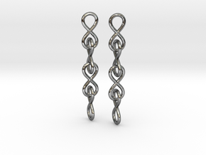 Infinity Chain Earrings in Polished Silver (Interlocking Parts)