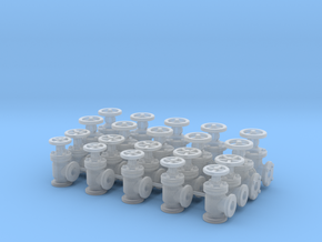 "20 Valves (various designs) For 1.6mm (1/16"") Rod in Smooth Fine Detail Plastic"