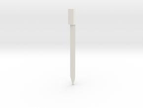 Volt Meter Gauge Needle in White Natural Versatile Plastic