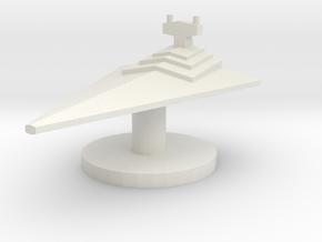Star Destroyer Token 17mm in White Natural Versatile Plastic