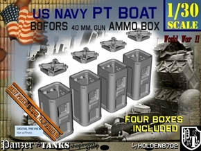 1-30 Bofors Ammo Box Set1 in Smooth Fine Detail Plastic