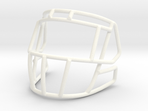 New Ice Cage 3 bar for mini speed helmet in White Processed Versatile Plastic