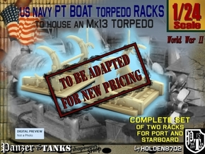 1-24 PT Torpedo Rack TypD in Transparent Acrylic