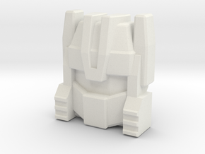 G1 Chase Face (Titans Return) in White Natural Versatile Plastic