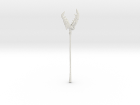 """BotW"" Dragonbone Boko Spear in White Natural Versatile Plastic: 1:12"
