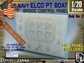 1-20 PT Boat Bridge Control Panel Typ5 in Smooth Fine Detail Plastic