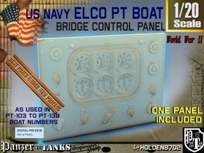 1-20 PT Boat Bridge Control Pannel Typ1 in Smooth Fine Detail Plastic