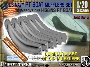1-20 PT Higgins Muffler Set in Smooth Fine Detail Plastic