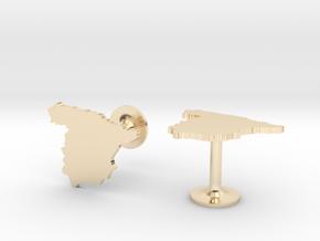 Spain Cufflinks in 14k Gold Plated Brass