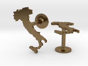 Italy Cufflinks in Natural Bronze