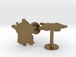 France Cufflinks in Natural Bronze