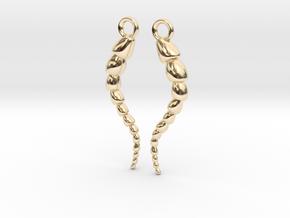 Leptohalysis Benthic Foraminiferan Earrings in 14K Yellow Gold