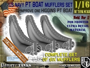1-16 PT Higgins Muffler Set For FUD in Smooth Fine Detail Plastic