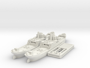 EFC 1020 'Laker' WW1 Freighter 1/600 & 1/700 in White Natural Versatile Plastic: 1:700