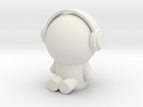 耳機小人 in White Natural Versatile Plastic