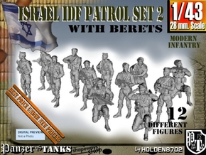 1-43 IDF BERET PATROL SET 2 in Smooth Fine Detail Plastic